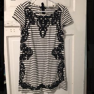Dresses & Skirts - Beautiful striped dress with embroidery